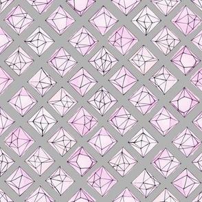 Geo Jewels Pink Steel