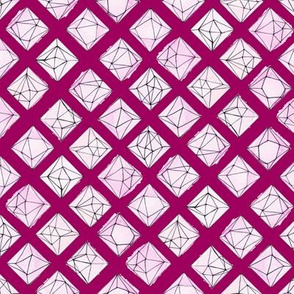 Geo Jewels Pink Ruby