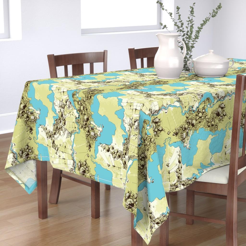 Bantam Rectangular Tablecloth featuring Satellite Images by fuzzyskyfabric
