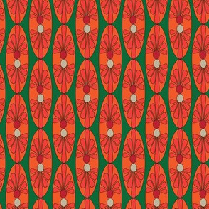 16-13AE Mexican Oval Deep Green_Miss Chiff Designs