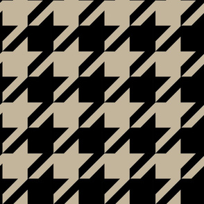 Extra Large Scale Houndstooth Home Decor    Black & Tan Khaki Brown _ Miss Chiff Designs