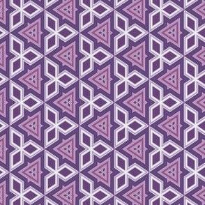 Wine and Purple Triangles and Diamonds