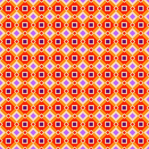 Orange and Purple Diamonds and Squares by Cheerful Madness!!
