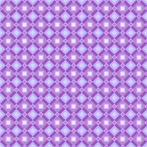 Lavender Diamonds and Squares by Cheerful Madness!!