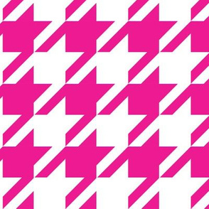 Houndstooth Hot Pink_Miss Chiff Designs