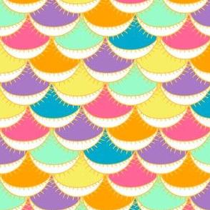 Jewel Tone Bright Festive Scallop