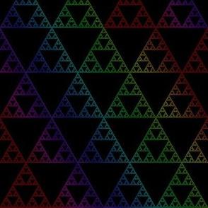 Rainbow sierpinski dark
