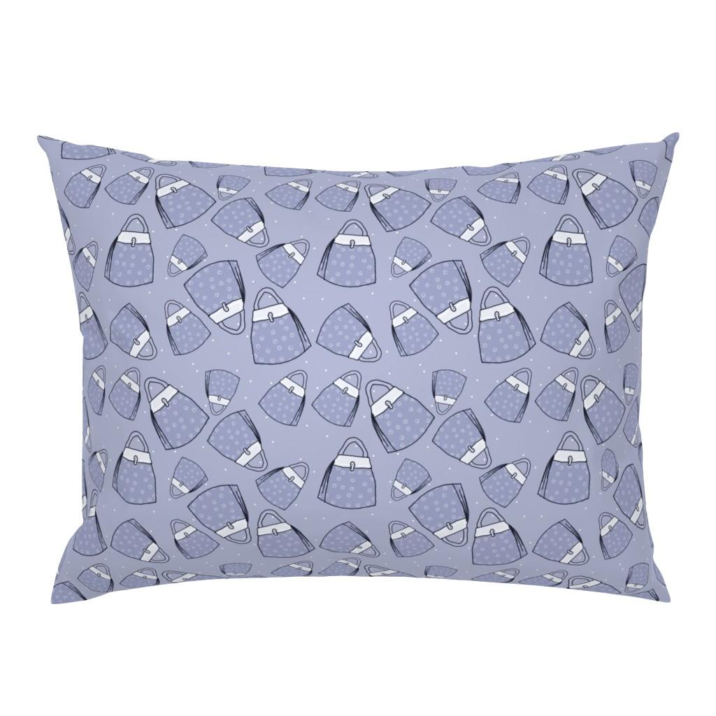 Campine Pillow Sham featuring Purses - blue mono by designergal