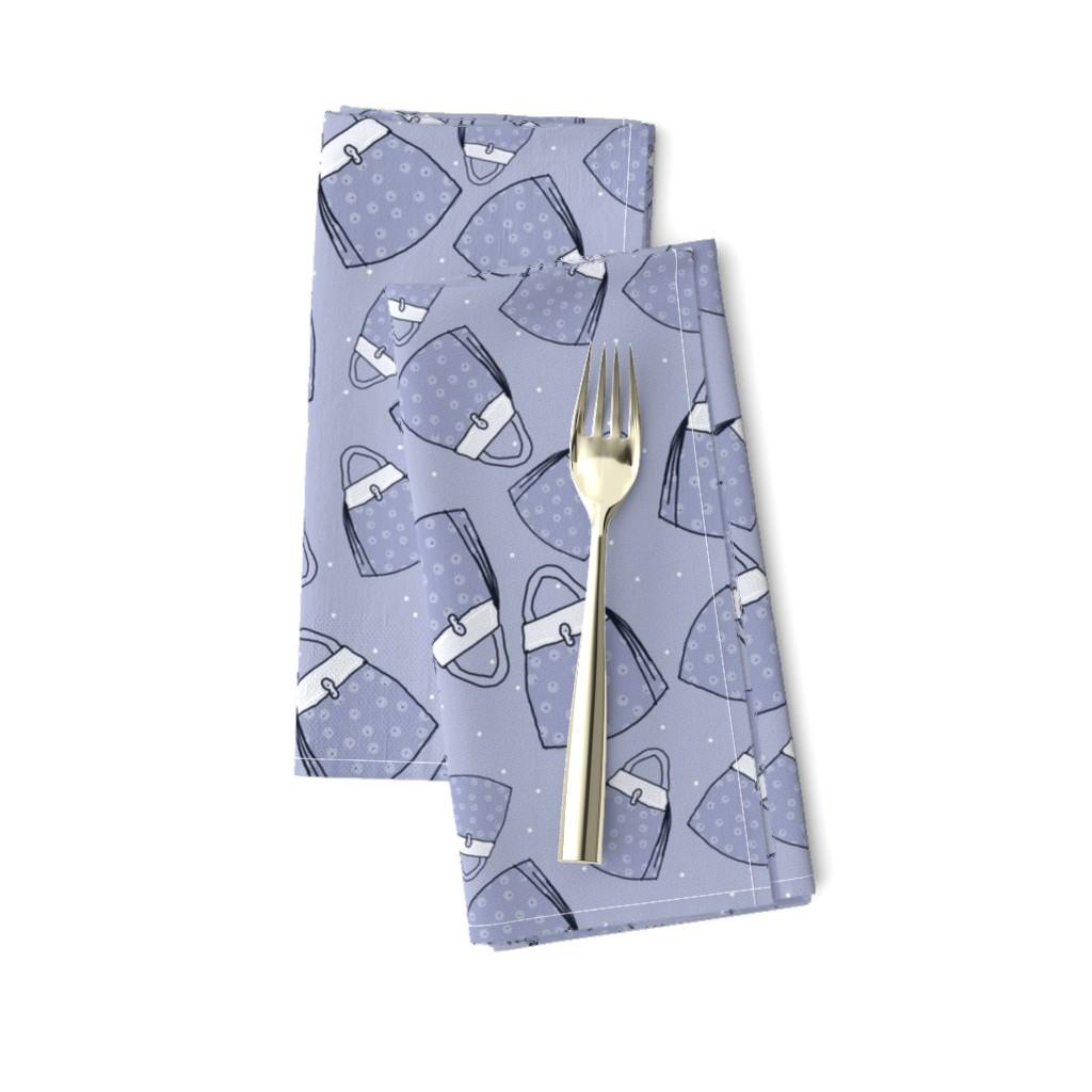 Amarela Dinner Napkins featuring Purses - blue mono by designergal