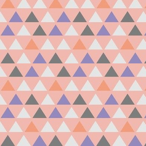 Coral and Gray Triangles on Pink