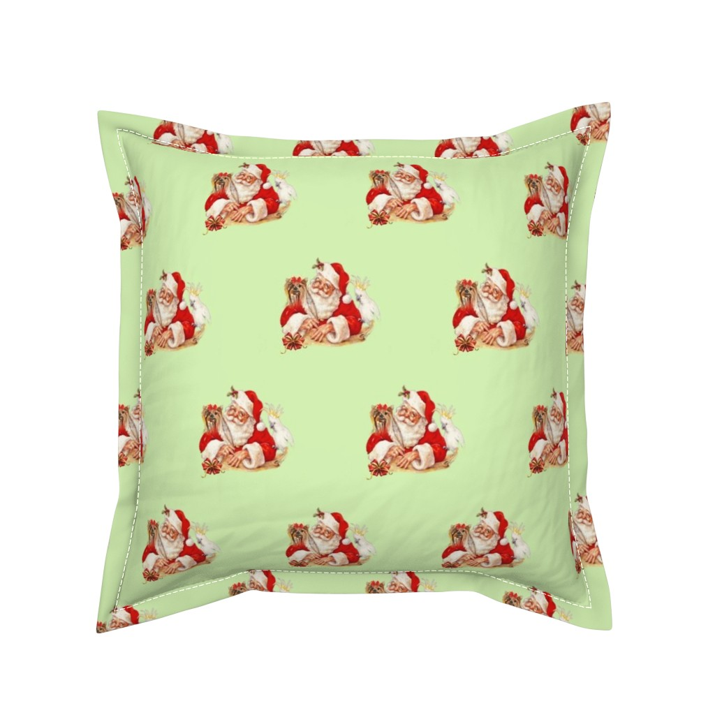 Serama Throw Pillow featuring Yorkie vintage ch by barbyyy