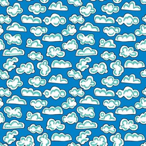 clouds: small + puffy: dream kangaroo