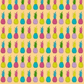 Neon Pineapples on Peach