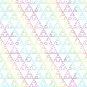Rainbow sierpinsky light
