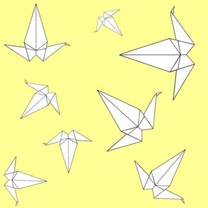 Origami Peace Cranes, Yellow