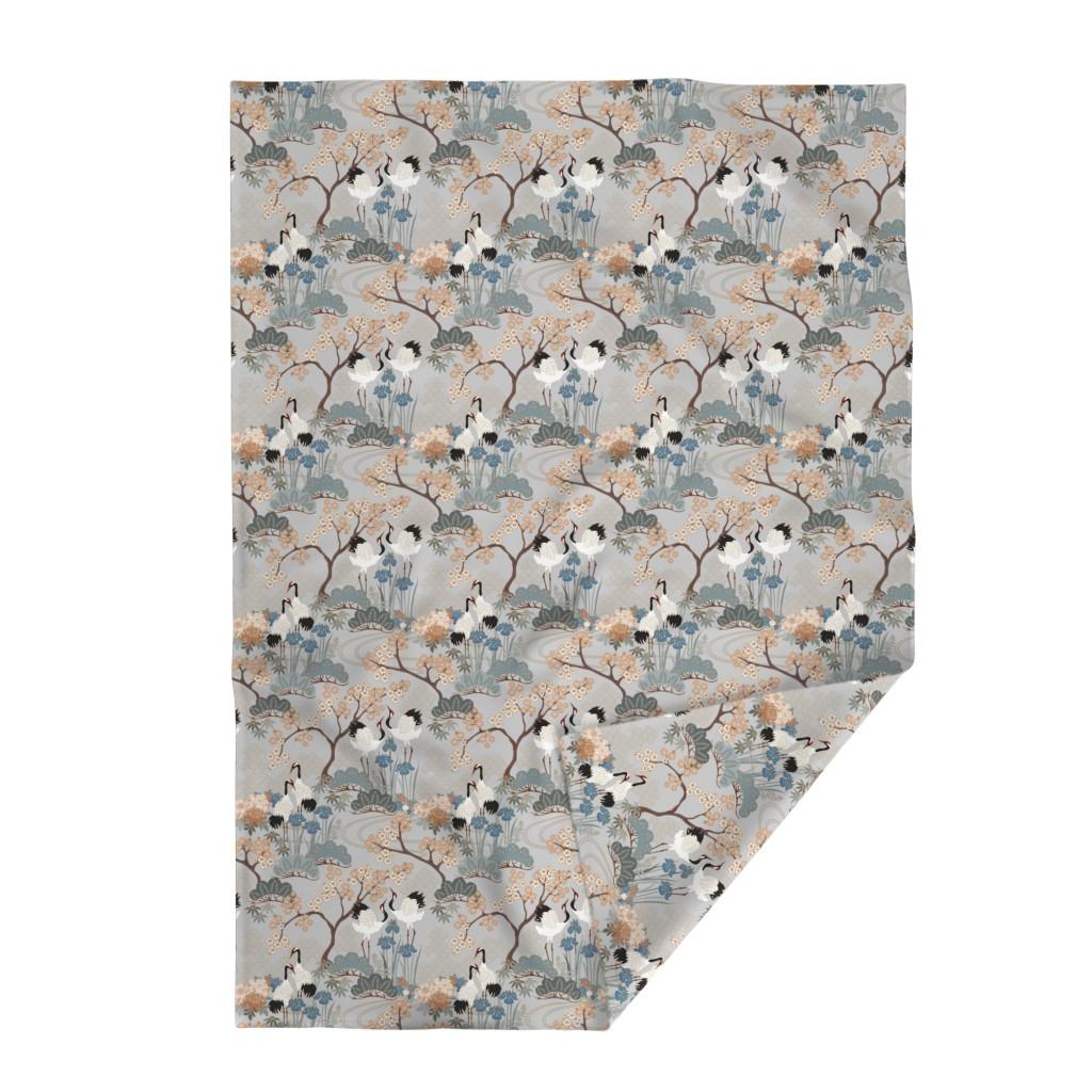 Lakenvelder Throw Blanket featuring gueth_japanese_garden_gray by juditgueth