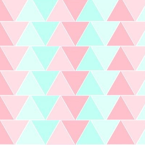 Pink Aqua Triangles