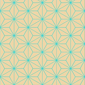 Japanese Pattern (Beige Stars)