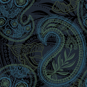 Paisley and Undines - Large