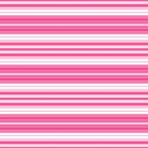 Pink and White Horizontal Stripe
