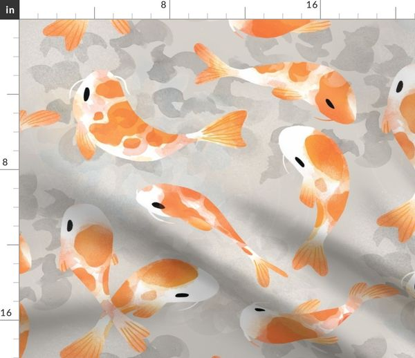 Fabric By The Yard Anese Koi Fish