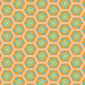 Japanese Pattern (Orange Hexagons)