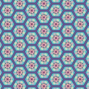Japanese Pattern (Blue Hexagons)