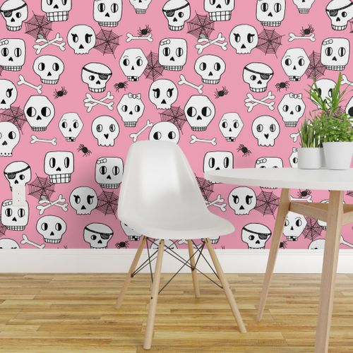 Outstanding Shop Pink On Wallpaper Roostery Home Decor Products Onthecornerstone Fun Painted Chair Ideas Images Onthecornerstoneorg