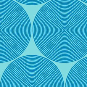concentric circles - blue on blue