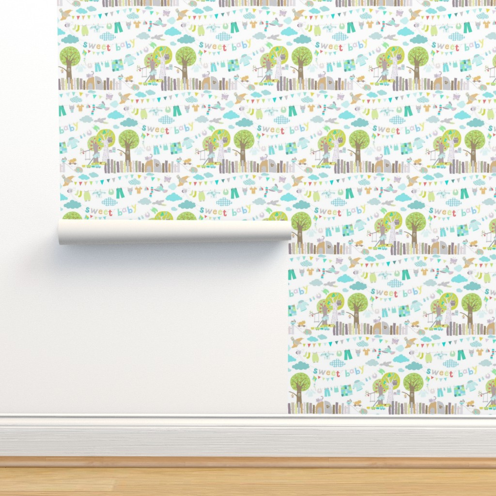 Isobar Durable Wallpaper featuring sweet baby boy by katarina