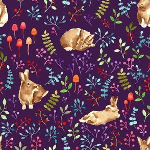 Forest bunnies violet