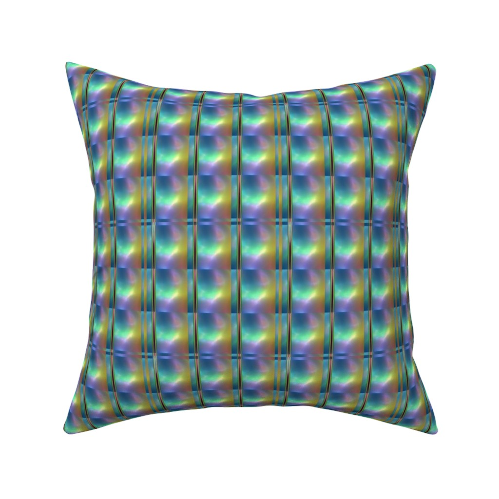Catalan Throw Pillow featuring Glowing Colors Tiled Geometric by gingezel