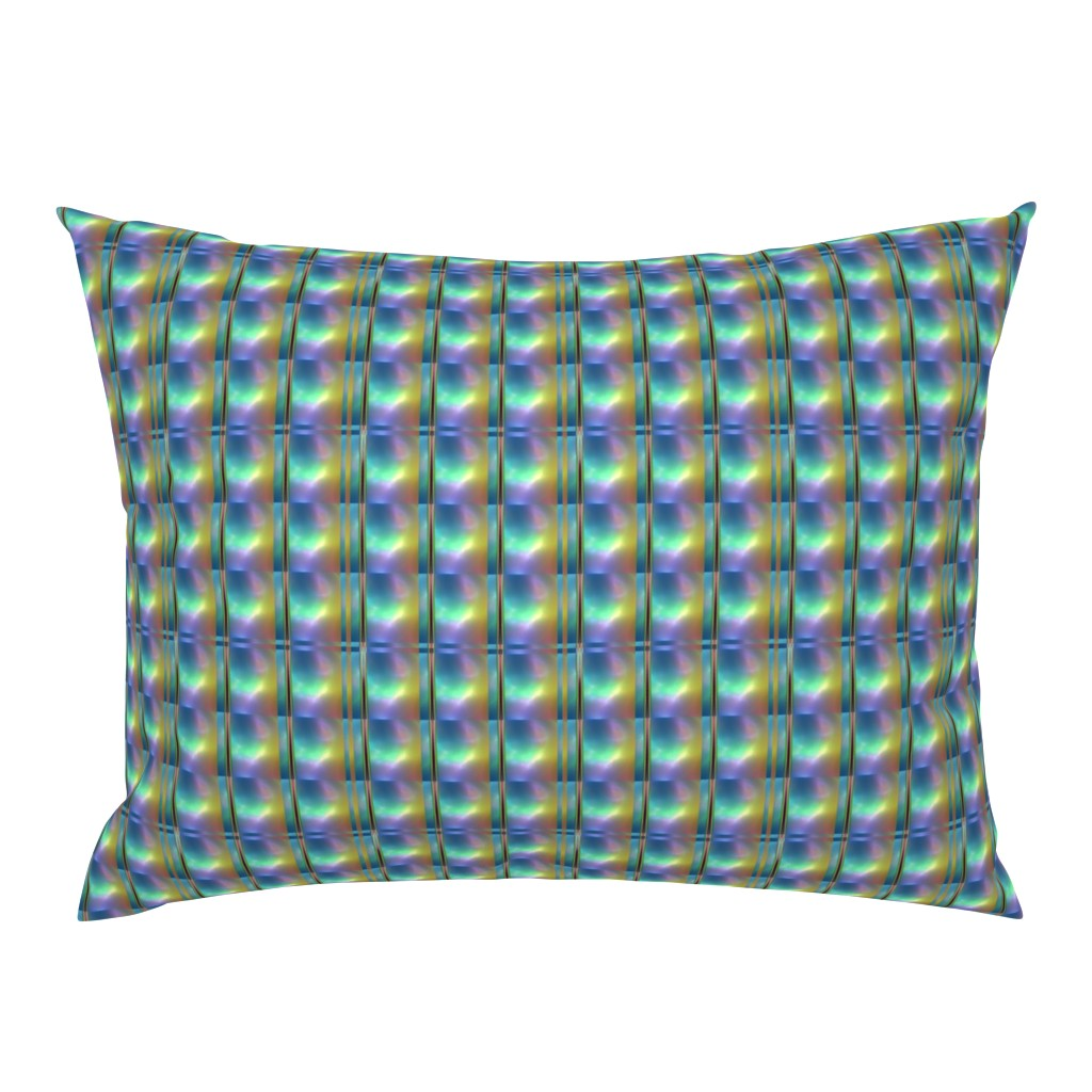 Campine Pillow Sham featuring Glowing Colors Tiled Geometric by gingezel