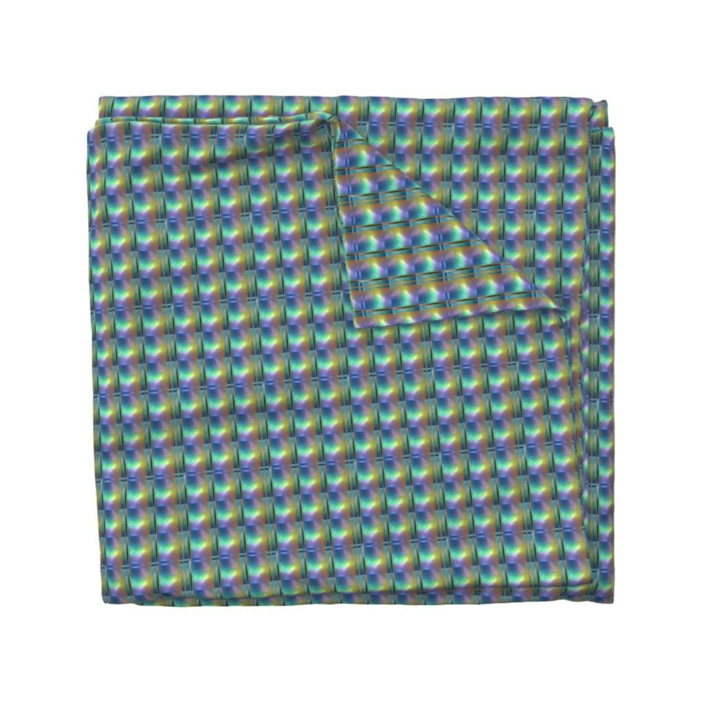 Wyandotte Duvet Cover featuring Glowing Colors Tiled Geometric by gingezel