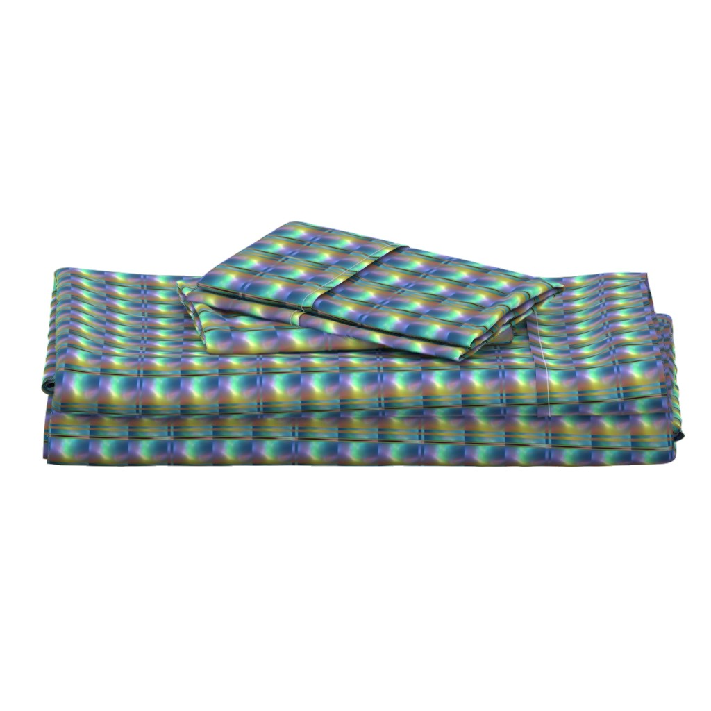 Langshan Full Bed Set featuring Glowing Colors Tiled Geometric by gingezel