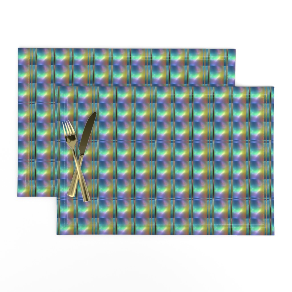 Lamona Cloth Placemats featuring Glowing Colors Tiled Geometric by gingezel
