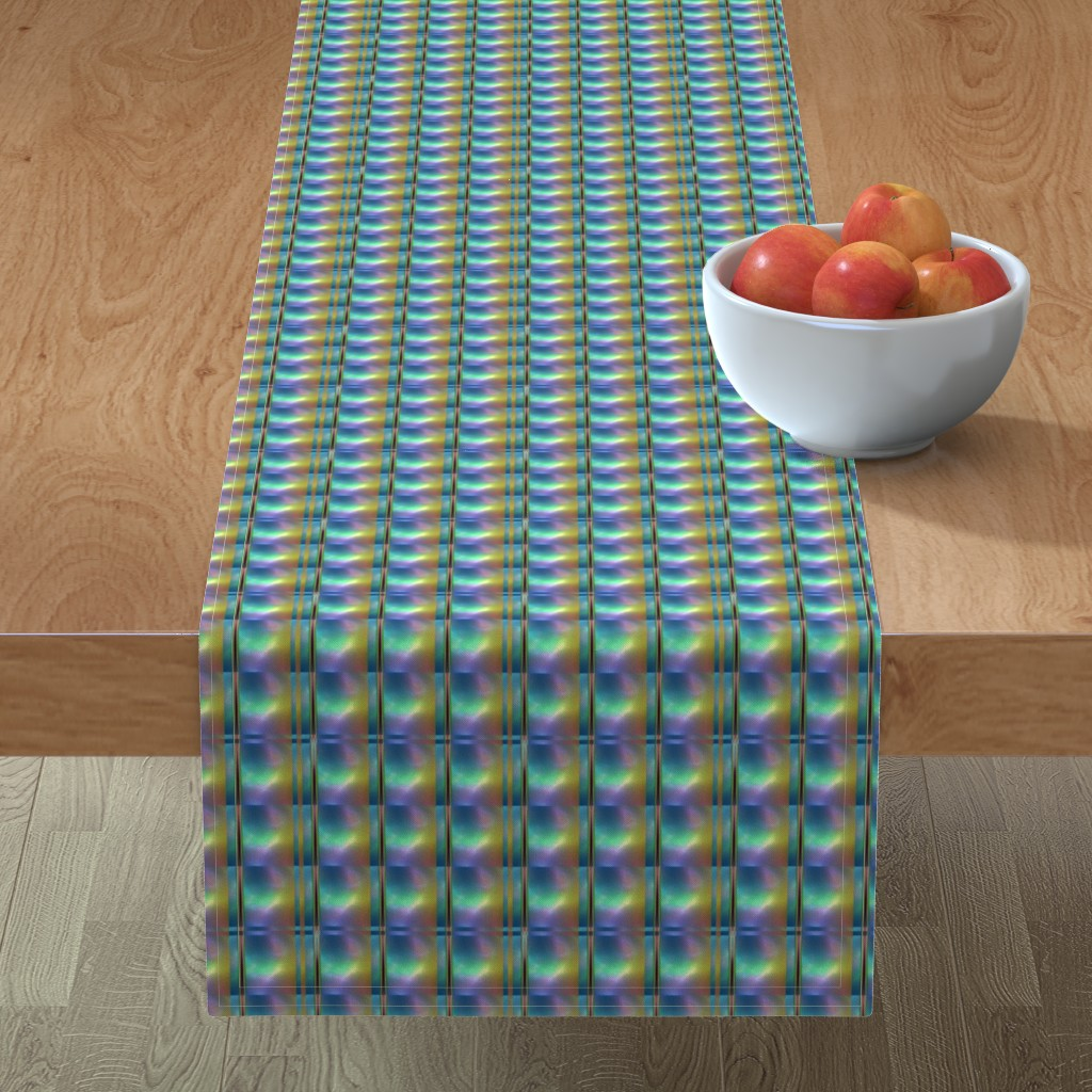 Minorca Table Runner featuring Glowing Colors Tiled Geometric by gingezel