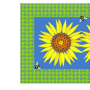 Tablerunneronheavytwillsunflowers