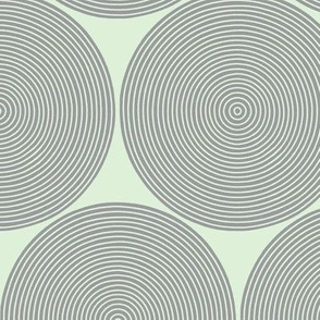 concentric circles - grey on cucumber