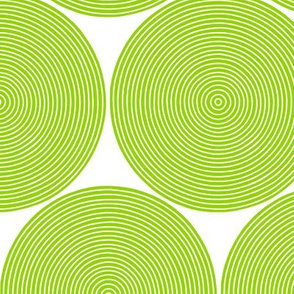 concentric circles in parakeet green