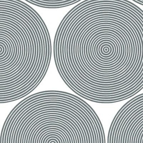concentric circles - cool grey on white