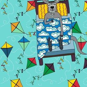 LEAD colorful kites in dew: dream kangaroo