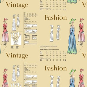 Sewing Paper Pattern 2 With Words