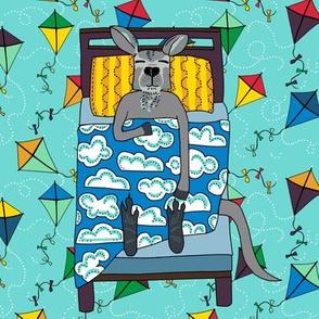 quilt block 5 0f 5: dream kangaroo