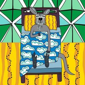 quilt block 2 of 5: dream kangaroo
