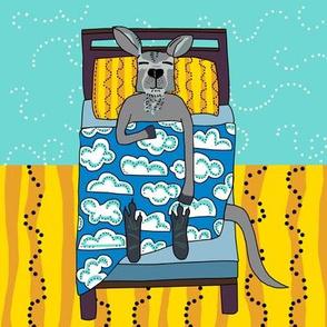 quilt block 3 of 5: dream kangaroo