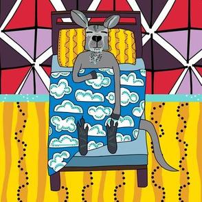 quilt block 4 of 5: dream kangaroo