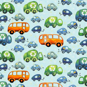 Green Wheels: Recycling Trucks, Electric Cars, and Buses