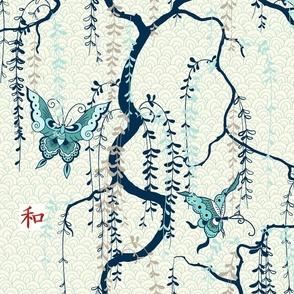 Japanese wisteria - navy