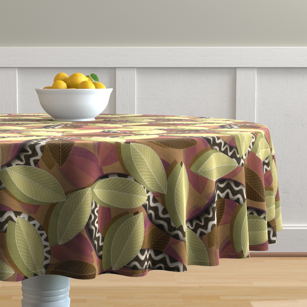 Malay Round Tablecloth featuring Snakebite  by spellstone
